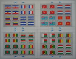 Nations Unies ONU 1980 -  Drapeaux Des Etats Membres  - Série Complète En 4 Feuilles MNH De 16 Timbres - 316/331 - Kilowaar (max. 999 Zegels)