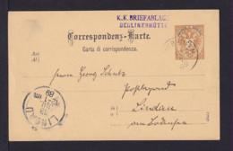 """1889 - 2 Kr. Ganzsache Mit Stempel """"K.K.Briefablage Berlinerhütte"""" Via Mayrhofen Nach Lindau - 1850-1918 Empire"""