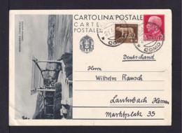 "1935 - 75 C. Bild Ganzsache ""Bordighera"" Gabraucht Ab Como Nach Lauterbach - 1900-44 Vittorio Emanuele III"