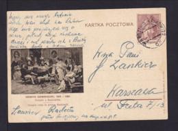 """1939 - 15 Gr. Bild Ganzsache """"Henryk Siemiradzki"""" - Bahnpoststempel Warszawa-Krakow - 1919-1939 République"""