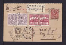 1915 - 15 C. ITALIEN ANTWORT-Ganzsache Mit Zufrankatur Als EINSCHREIBEN Nach Rimini - SELTEN - Saint-Marin