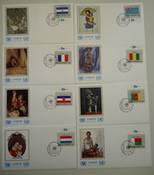 UNICEF 1980 - Thème Mère Et Enfants - 16 FDC - Drapeaux Des Etats Membres De L'ONU - Première Série Complète - 316/331 - Kilowaar (max. 999 Zegels)
