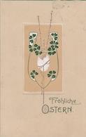 Pasqua  ,  Auguri  -  Jugendstil  -  Stampa In Rilievo - Pasqua