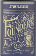 J.W.LEES BREWERY  (MANCHESTER, ENGLAND) - FOUNDERS PREMIUM CHESTNUT ALE - CURVED PUMP CLIP FRONT - Uithangborden