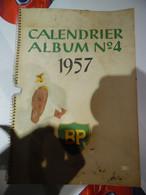 Oude Kalender 1957 Bp Met Foto's  Monumenten Belgie - Calendriers