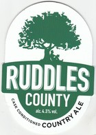RUDDLES BREWERY  (RUTLAND, ENGLAND) - RUDDLES COUNTY COUNTRY ALE - PUMP CLIP FRONT - Uithangborden