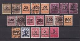 Deutsches Reich - Dienstmarken - 1923 - Michel Nr. 89/98 - Ungebr./Gest./Postfrisch - 70 Euro - Germany