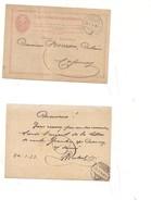 P665 SVIZZERA HELVETIA POSTKARTE INTERO POSTALE Gentier Cossonay 1874 VIAGGIATO - Interi Postali