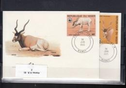Niger Michel Cat.No. WWF Issue 941/944 FDC - Niger (1960-...)