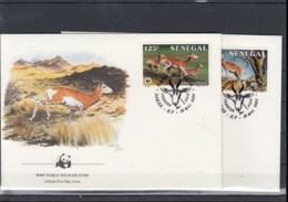 Senegal Michel Cat.No. WWF Issue 875/878 FDC - Senegal (1960-...)