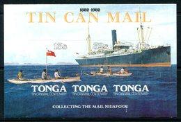 Tonga 1982 Tin Can Mail Centenary MS MNH (SG MS821) - Tonga (1970-...)