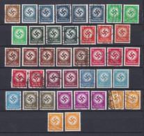 Deutsches Reich - Dienstmarken - 1934 - Michel Nr. 132/143 - Gest./Postfrisch/Ungebr. - 70 Euro - Used Stamps