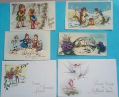 Lot De 6 Cartes Mignonettes Fantaisie - Nouvel An