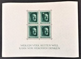 1937 Block 7*) (646) Zum 48. Geburtstag Hitlers - Duitsland