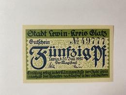 Allemagne Notgeld Glatz 50 Pfennig - [ 3] 1918-1933 : République De Weimar