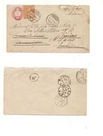 P671 A SVIZZERA HELVETIA POSTKARTE INTERO POSTALE Busta 10+20 Fr Cossonay 1873  Milano Varese VIAGGIATO - Interi Postali