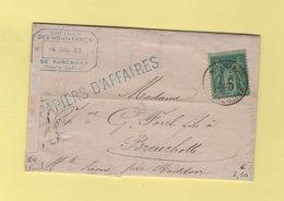 Ronchamp - Haute Saone - 6 Juil 1883 - Tarif Papiers D Affaires - Storia Postale