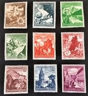 1938 Winterhilfswerk - Ostmarklandschaften Und Blumen Mi. 675-683*) - Deutschland