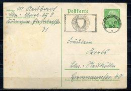 """German Empires 1939 Ganzsche Hindenburg, Mi.Nr.P225 Mit MWST""""Berlin-Eigende Vorsicht-Bester Unfallschutz """"1GS  Used - Unfälle Und Verkehrssicherheit"""