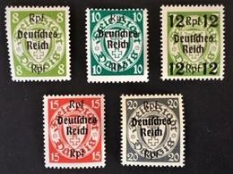 """1939 Freimarken Von Danzig Mit Aufdruck ,,Deutsches Reich"""" Mi. 719*), 720*), 721*), 722*), 723*) - Deutschland"""