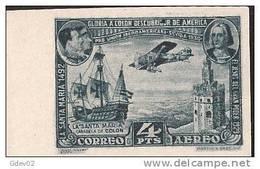 ES591SD-LA349TAN.Spain Espagne PRO UNION IBEROAMERICANA 1930 (Ed 591s**),sin Charnela. MAGNIFICO SIN DENTAR - Nuevos