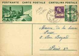 Entier Postal 10 HELVETIA  + Timbre 10 HOSPENTHAL + Beau Cachet  CHAMPERY  (VALAIS)      RV - Entiers Postaux