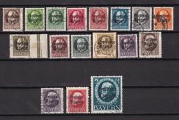 Bayern - 1919 - Michel Nr. 152/167 A - Gest. - 130 Euro - Bavaria
