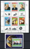 756c Yemen Kingdom MNH ** N° 809 A / F + Bloc 167 A Apollo 11 Astronauts Armstrong Aldrin Collins Sheet Espace (space) - Yémen