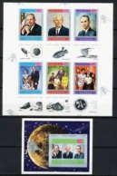 755c Yemen Kingdom MNH ** N° 809 A /F + Bloc 167 B Apollo 11 Astronauts Armstrong Non Dentelé Imperf Espace (space) - Yémen