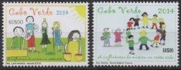 Cabo Verde 2014 - Dessins D'enfants Children's Drawings Kinderzeichnungen Mi. 1027-1028  2 Val. MNH - Isola Di Capo Verde