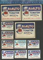 RIALTO TOMATEN (CONSERVEN CANNED TOMATOES) DE POURCQ GENT VAN POECK ST-NIKLAAS MEERT AALST ( Matchbox Labels Belgium) - Luciferdozen - Etiketten