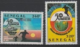 Sénégal 2001 Mi. 1940 -1941 UNHCR 50ème Anniversaire Globe Map Landkarte Char United Nations UN Tank - Senegal (1960-...)