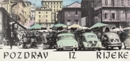 Rijeka - Old Cars - VW Volkswagen Bug Beetle Kafer Coccinelle Zastava 750 DKW 1963 - Croatia