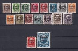 Bayern - 1919 - Michel Nr. 116/131 A - Gest. - 69 Euro - Bavaria