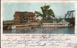 ! Old Postcard USA, Indianapolis, Canoe Club Building, Raddampfer, 1905, Lübeck - Indianapolis