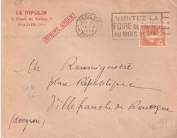 25c.semeuse Camée Sur IMPRIMES URGENT - 1921-1960: Période Moderne