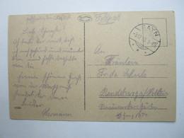 1918 , SAYN  , Klarer Stempel Auf Karte - Briefe U. Dokumente