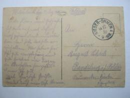 1918 , NIEDER - OHMEN  , Klarer Stempel Auf Karte - Briefe U. Dokumente