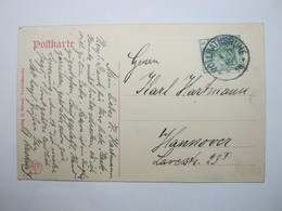 1910 , VOLLRATSRUHE  , Klarer Stempel Auf Karte - Briefe U. Dokumente