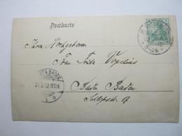 1902 , ELSENBORN - ÜBUNGSPLATZ  , Klarer KOS Stempel Auf Karte - Briefe U. Dokumente