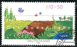 BRD - Michel 2116 - OO Gestempelt (AE) - 110+50Pf              Der Boden Lebt - Oblitérés