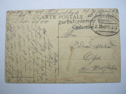 1915 ,  LÜTTICH - TERGNIER  - Bahnpost , Carte Postale Militaire , - WW I