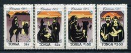 Tonga 1985 Christmas Set MNH (SG 919-922) - Tonga (1970-...)