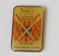 1 Pins Sapeurs Pompiers Fanfare De DIEFFENBACH AU VAL (BAS RHIN - 67) - Brandweerman