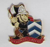 1 Pins Sapeurs Pompiers D'ALBE (BAS RHIN - 67) - Brandweerman