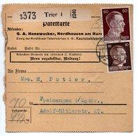 Allemagne  / Colis Postal  / Départ  Trier / 21-1-43 - Allemagne