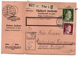 Allemagne  / Colis Postal  / Départ  Trier / 28-11-42 - Allemagne