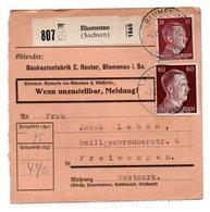 Allemagne  / Colis Postal  / Départ  Blumenau ( Sachsen )  / Baukastenfabrik Reuter - Allemagne