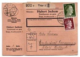 Allemagne  / Colis Postal  / Départ  Trier  / Hubert Juchem Textilwaren En Gros / 28-11-42 - Allemagne