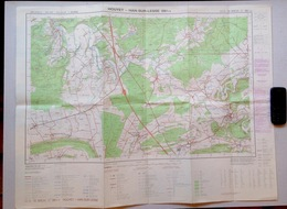 ©1988 HOUYET HAN-SUR-LESSE Rochefort CARTE D ETAT MAJOR WANLIN HOUR HAVENNE CIERGNONT VILLERS EPRAVE BRIQUEMONT S204 - Houyet